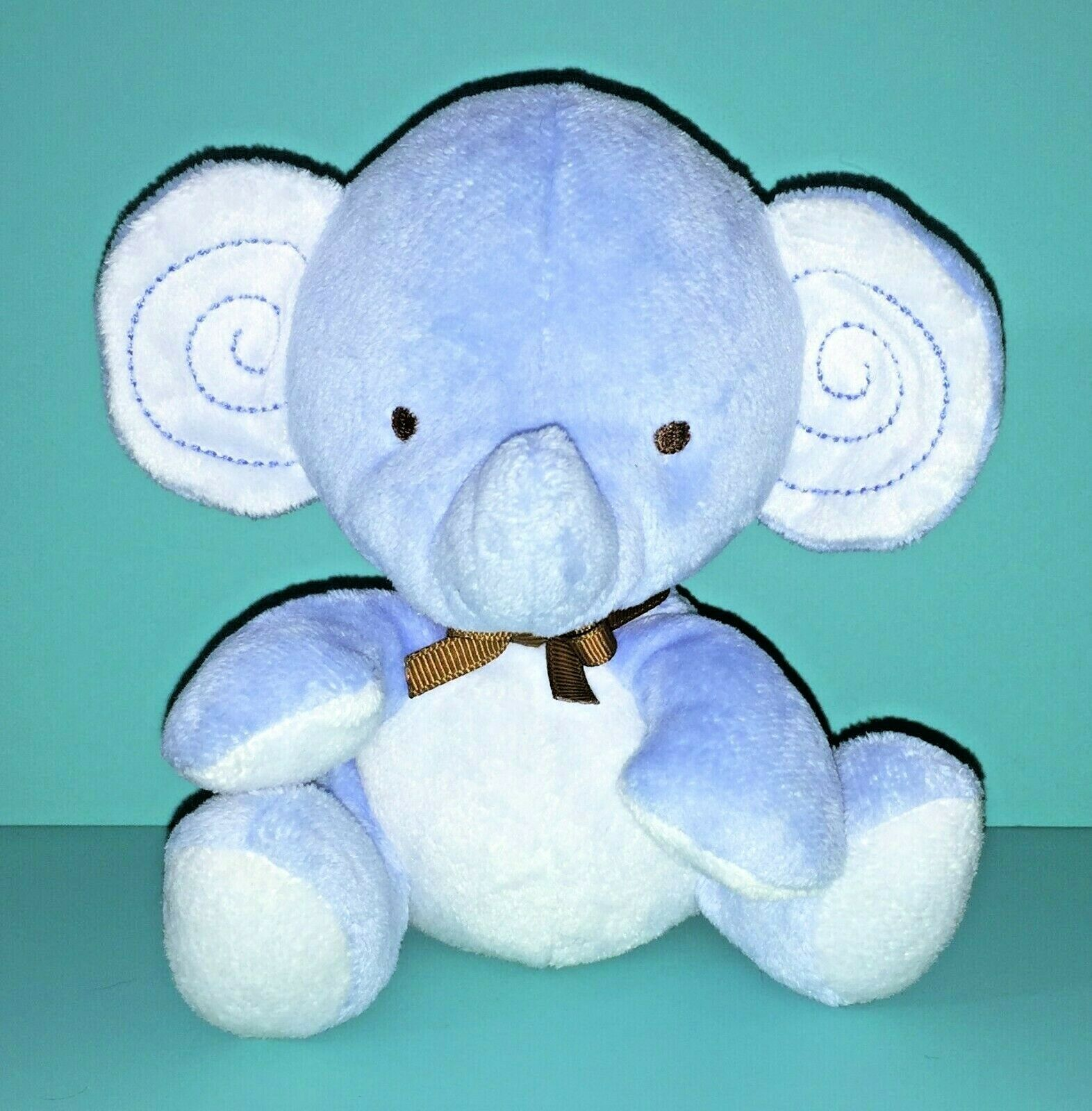 "Fisher Price My Little SnugaMonkey Blue Elephant 6"" Bean Bag Plush Baby Lovey"