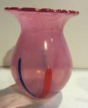 Kosta Boda rose color limited edition signed vase - $95.00