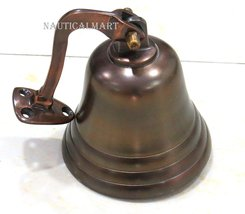 """4"""" Antique Copper Finish Hanging  Ship Bell Nautical Decor  - $70.00"""