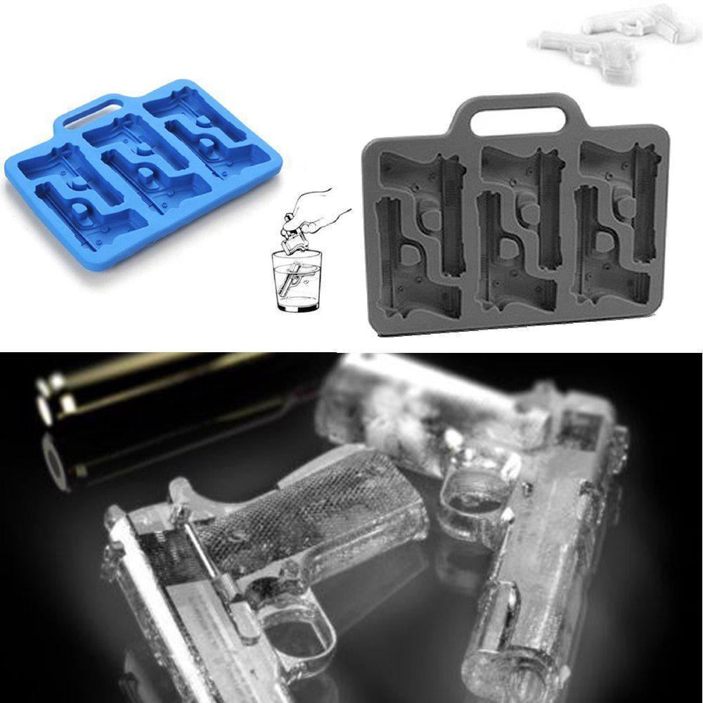 DIY Ice Cube Tray 2PCS/Set Gun Bullet Shape Kitchen Bar Drinking Accessories