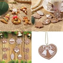 Christmas Ornaments 17pcs Pendant Decorations Ginger Bread Snowflake Hom... - €8,27 EUR