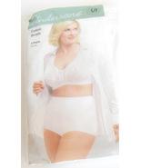 Ladies Underscore Large 7 Underwear Cotton Briefs 3 Pairs White Elastic ... - $12.95