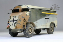 Rommel's Mammoth DAK AEC Armored Command Car Full Interior 1:35 Pro Buil... - $346.50