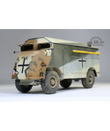 Rommel's Mammoth DAK AEC Armored Command Car Full Interior 1:35 Pro Buil... - $346.50