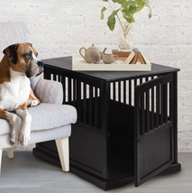 Dog Crate End Table Large Dogs Kennel Indoor Crates Pet Wooden Night Sta... - $213.35 CAD