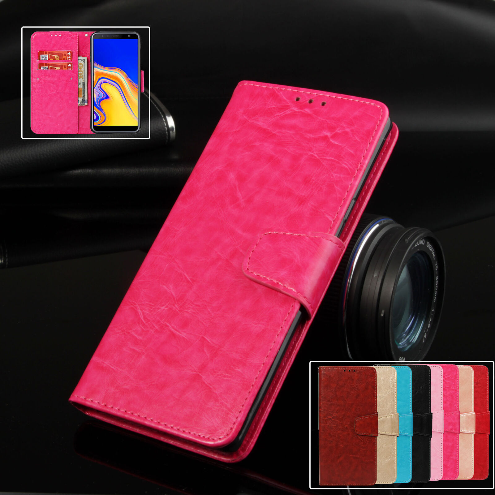Primary image for For Samsung Galaxy J4 J6 Plus J7 J3 J8 J6 2018 J5 2016 Case Wallet Leather Cover