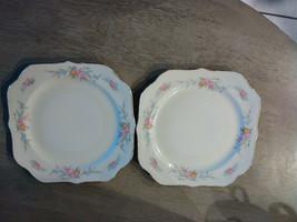 "(2) Homer Laughlin Eggshell Nautilus ""Ferndale"" 8"" Square Salad Plates  - $17.05"