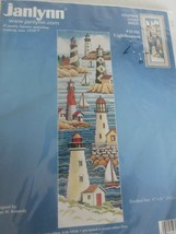 Janlynn NEW Counted Cross Stitch Kit Boats Lighthouses 6x21 #13-229 USA - $19.95