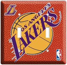 Los Angeles Lakers Nba Basketball Champions Double Light Switch Art Wall Cover - $11.99