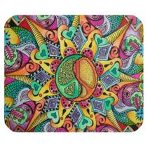 Mouse Pad Mandala Boho Hippi Psychedelic Elegant Flowers Design Anime Fantasy - $6.00
