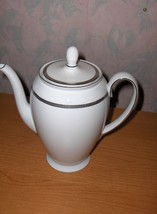 Rosenthal Nobility China Coffee Pot/Lid Germany  White Platinum Silver E... - $113.85