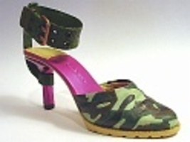 Enlisted Military Camouflage Hot Pink Accents Metal Plated Just the Righ... - $39.99