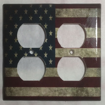 US USA United State Flag Light Switch Power Outlet Wall Cover Plate Home decor image 4