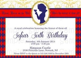 Snow White Printable Birthday or Baby Shower Invitation: Custom, Disney Princess - $9.99