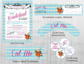 Alice in Wonderland Complete Party: Printable, Birthday, Baby Shower, Invitation - $20.00