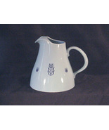 Cronin Blue Tulip Pottery Pitcher with Ice Lip - $12.00