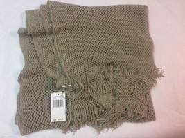 NWT Echo Design Beige Silver Sparkle Soft Scarf Acrylic Blend Loose Knit... - $14.99
