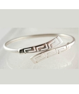 Meander - Greek Key - Sterling Silver Cuff Bracelet - $59.00