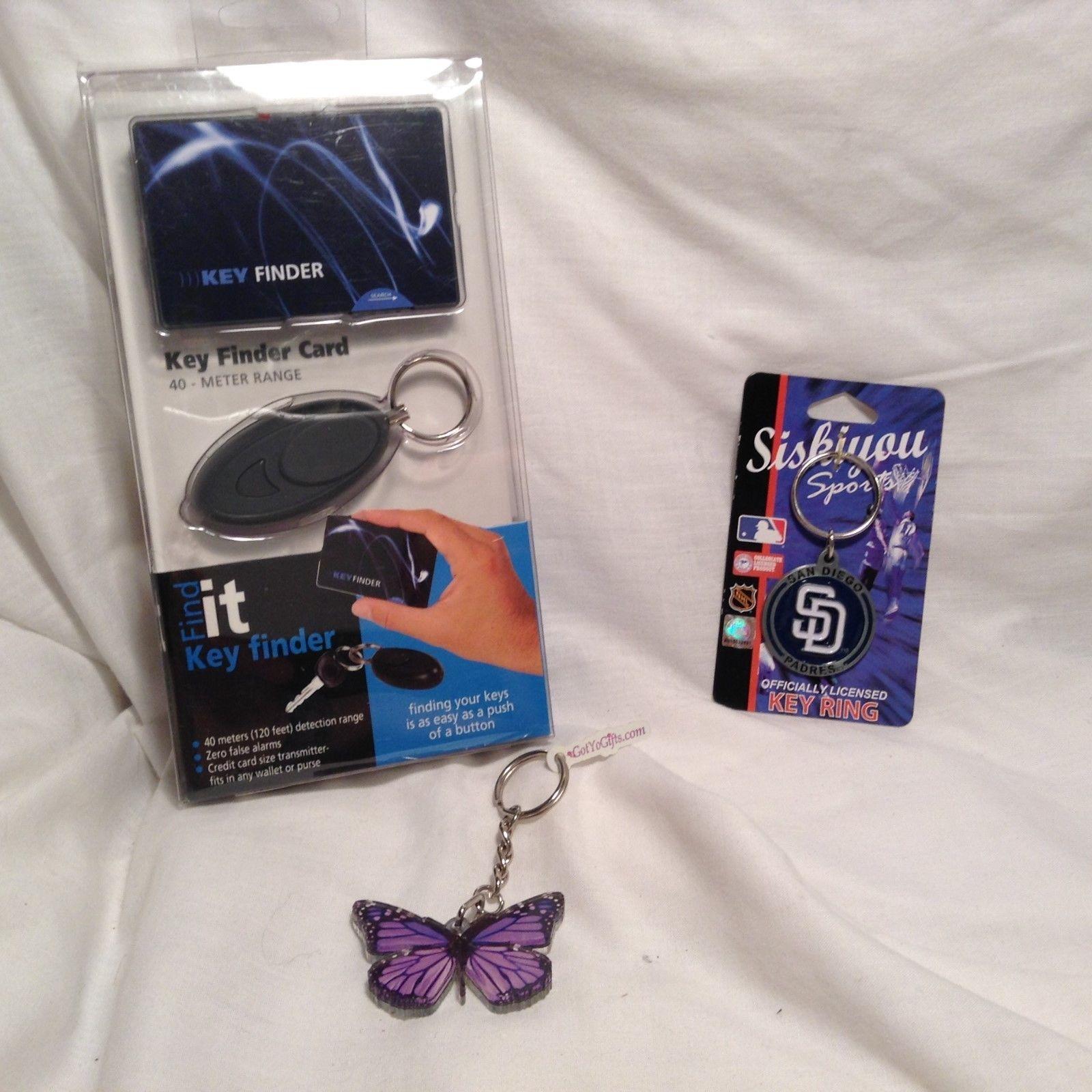 NEW FindIT Key Finder Butterfly Key Chain Set