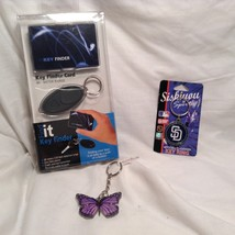 NEW FindIT Key Finder Butterfly Key Chain Set