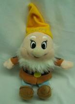 "Walt Disney Snow White And The Seven Dwarfs Happy Dwarf 8"" Bean Bag Stuffed Toy - $16.34"
