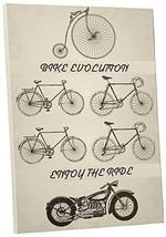 "Pingo World 0725QQTVROM ""Bike Evolution Motorcycle"" Gallery Wrapped Canvas Wall  - $138.55"