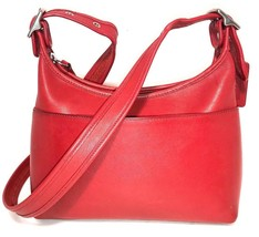 Vintage Coach 'Legacy' 9136 Red Soft Leather Shoulder Cross-Body Bag - $39.98
