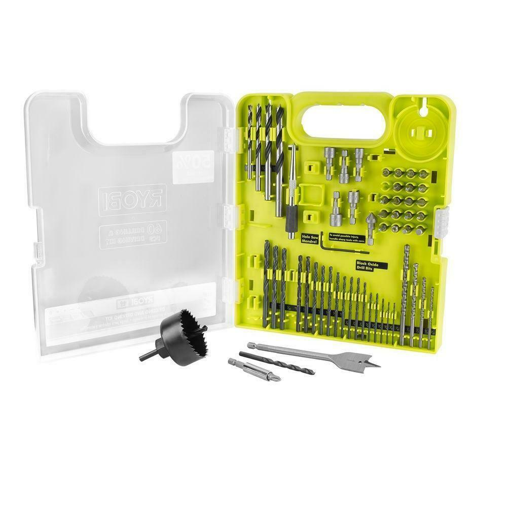Primary image for RYOBI - A98601G - Multi-Material Drill and Drive Kit - 60-Piece