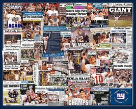 New York Giants 2012 Super Bowl Newspaper Collage Print Art - $20.00+