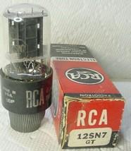 Nos Nib Rca 12SN7GT Black Plate Bottom Getter Audio Input Tube Tested Gd TV-10B - $9.85