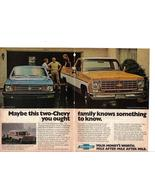 Vintage 1976 Chevy Advertising Print 2 Page Ad - Chevy- Collectible - Chevy - $3.49