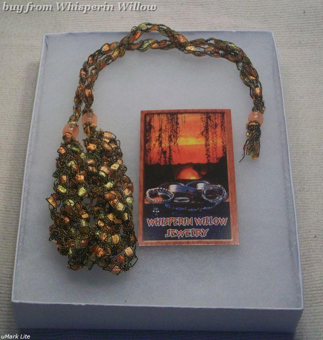 CrochetedTrellis Ladder Yarn Necklace 4