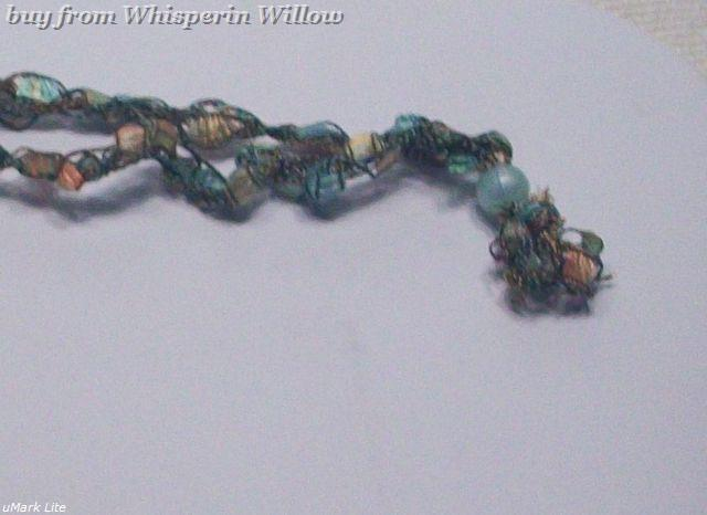 Crocheted Trellis Ladder Ribbon Necklace 8