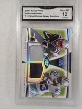 Dobson Williams 2013 Topps 7/10 Dual Combo Relic Rainbow GMA Graded Gem 10 - $15.84