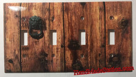 Rustic Barn Wood Door image Light Switch Outlet Wall Cover Plate Home Decor image 5