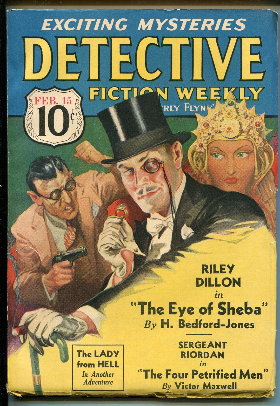 Primary image for Detective Fiction Weekly 2/15/1936-pulp-H. Bedford-Jones-Lady From Hell-VF