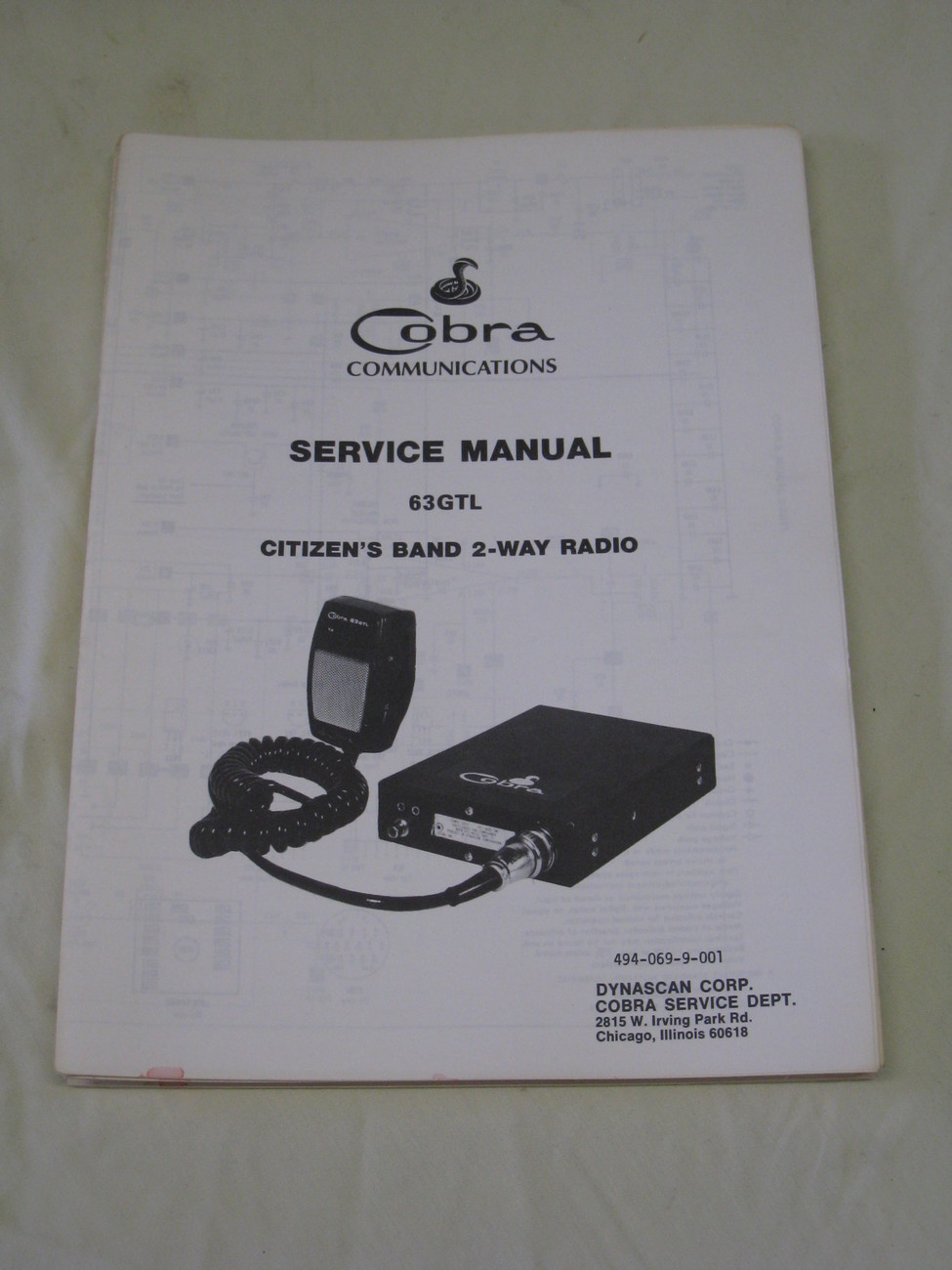 Cobra Communications Service Manual for a Cobra 63 GTL