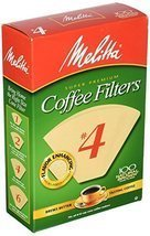 Melitta 624602#4 8 To 12 Cup Natural Brown Cone Coffee Filters 100 Count - $7.69