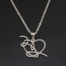 Sterling Silver BTS Love Yourself 結 Answer Necklace Pendant - $62.00