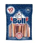 ValueBull Premium Bully Sticks, 6 Inch Medium, 10 Count - Angus Beef, Lo... - $27.96