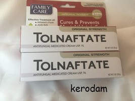 2 boxes 1% Family care Tolnaftate anti-fungal Cream Athlete's foot 1oz - $4.15
