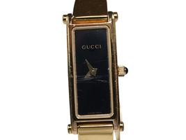 Auth GUCCI 1500L Black Dial Gold Plated Band Women's Quartz Watch GW17803L - $210.98 CAD