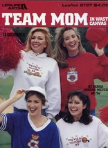 Team Mom Charted for Waste Canvas Cross Stitch PATTERN/INSTRUCTIONS - $1.77