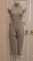 NWT  carabella gray turtle neck sleeveless unitard  made in USA MEDIUM - $39.11
