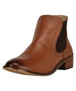 LibertyZeno Women's Chelsea Plain Toe Ankle Leather Boots L-1122 - $49.49