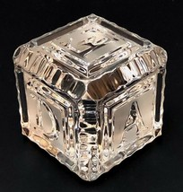 Waterford Crystal Clear & Frosted Alphabet Baby Block  - $28.00