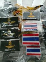 BID Flag Nametag Royal THAI AIR FORCE PATCH, RTAF Original 7 Patches Lot011 - $9.49