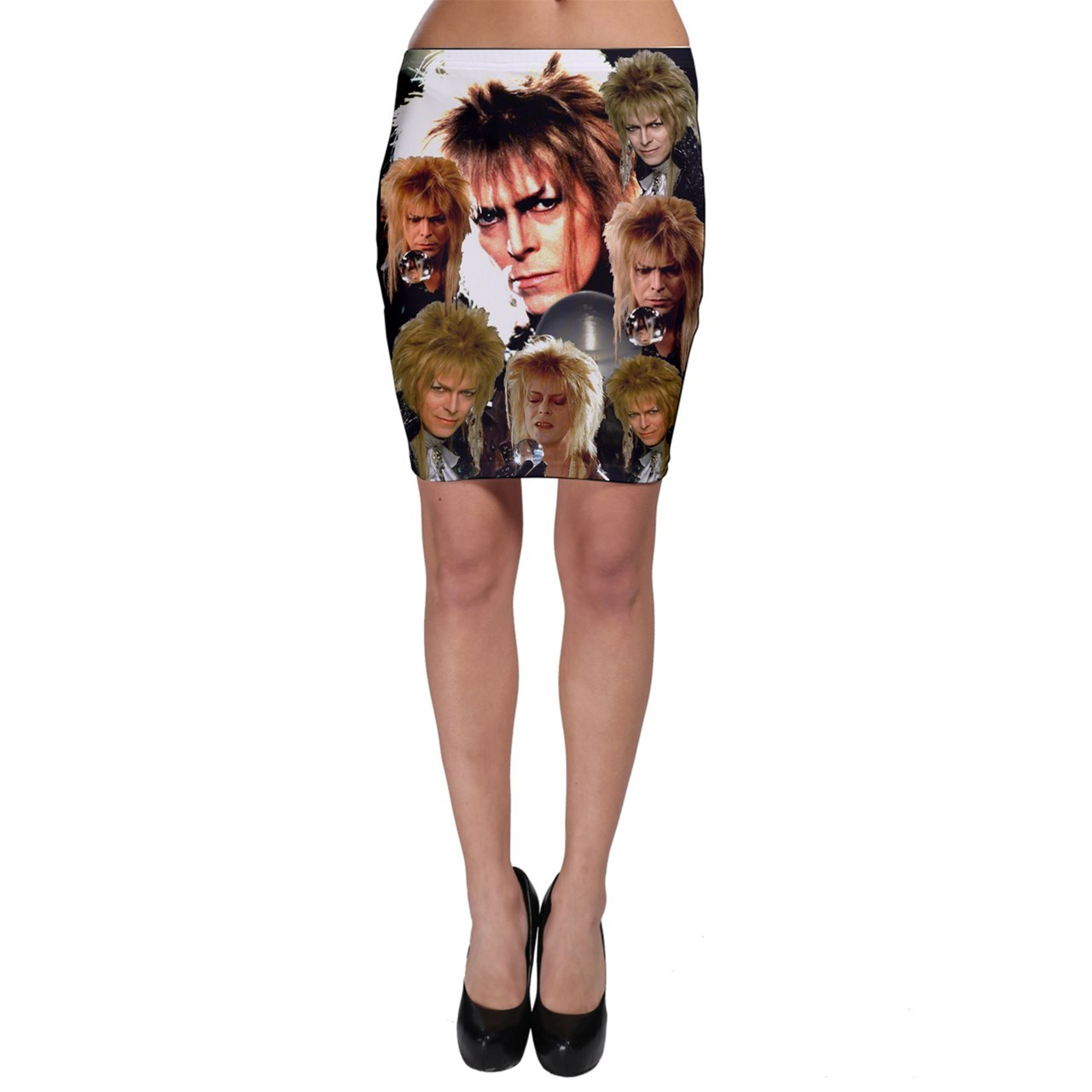 Bodycon skirt david bowie labyrinth king goblin collae