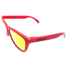 OAKLEY Frogskins OO9013-48 55mm Sunglasses Matte Red Frame Yellow Flash Lenses - $79.19