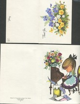 9 Vintage Greeting Cards Thank You -  5 Hallmark and 4 Mixed trademarks - $5.95